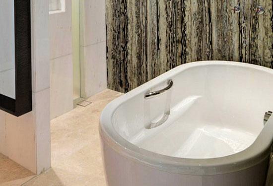 Slip resistant bathroom floors, non slip shower and tub anti-slip coating